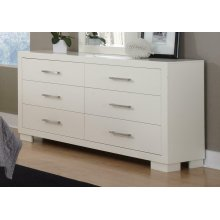 Jessica Contemporary Six-drawer Dresser