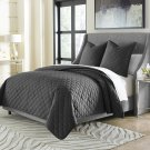 3pc Queen Coverlet Set Charcoal Product Image