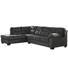 Signature Design by Ashley Accrington 2-Piece Right Side Facing Sofa Sectional in Granite Microfiber