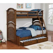 Halsted Casual Walnut Twin-over-full Bunk Bed