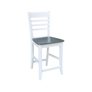JOHN THOMAS FURNITURERoma Stool in Heather Gray & White