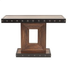 Rustic Wood Console Table with Iron Accents