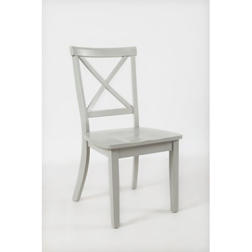 Everyday Classics Drop Leaf Table With 2 X Ladder Back Chairs- Dove