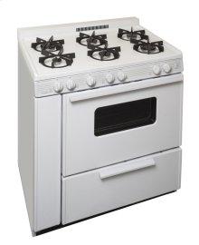 36 in. Freestanding Sealed Burner Gas Range in White
