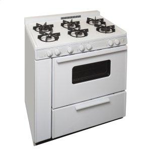 Premier36 in. Freestanding Sealed Burner Gas Range in White