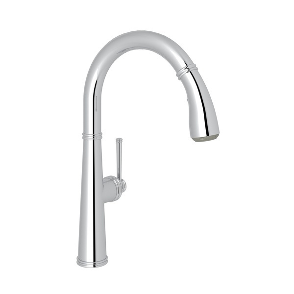 Polished Chrome 1983 Pull-Down Kitchen Faucet with 1983 Metal Lever