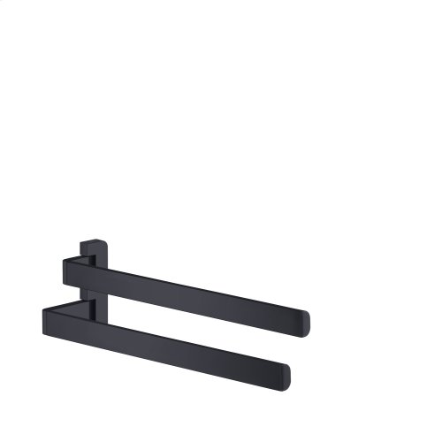 Satin Black Towel holder twin-handle