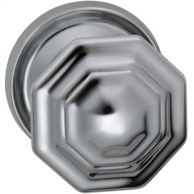 Interior Traditional Knob Latchset in (US26 Polished Chrome Plated)