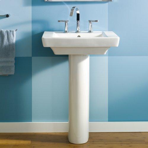 Boulevard 24 Inch Pedestal Sink - White