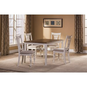 Hillsdale FurnitureBayberry / Embassy 5-piece Rectangle Dining Set - White