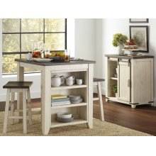 Madison County 3pc Counter Height Set - Vintage White