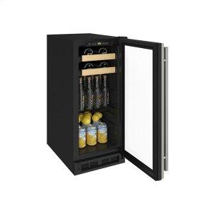 "U-Line15"" Beverage Center With Stainless Frame Finish (115 V/60 Hz Volts /60 Hz Hz)"