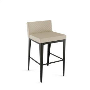 Ethan Plus Non Swivel Stool With Quilted Fabric