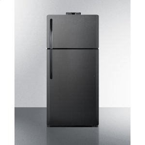 Summit18 CU.FT. Break Room Refrigerator-freezer In Black With Nist Calibrated Alarm/thermometers