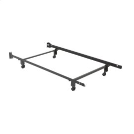 "Inst-A-Matic Hospitality H738R Bed Frame with Fixed Headboard Brackets and (4) 2"" Locking Rollers, Twin"