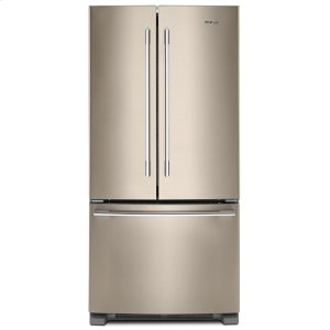 Whirlpool33-inch Wide French Door Refrigerator - 22 cu. ft. Fingerprint Resistant Sunset Bronze