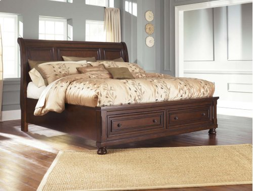 Sleigh Storage King Bed