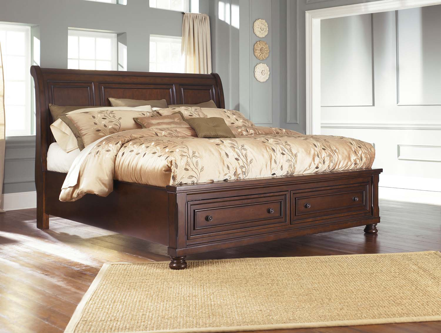 Porter   Rustic Brown 3 Piece Bed Set (King)