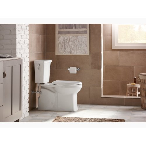 Biscuit Comfort Height Two-piece Elongated 1.28 Gpf Toilet With Skirted Trapway and Revolution 360 Swirl Flushing Technology and Left-hand Trip Lever, Seat Not Included