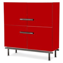 Accent Cabinet (2 Pc) - Saffron Finish