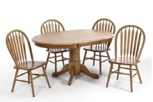 Threshers Oak Table (Medium) Set; Table & 4 Small chairs