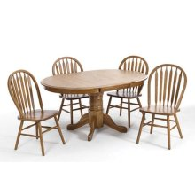 Threshers Oak Table (Medium) Set; Table & 4 Small chairs