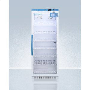 SummitPerformance Series Pharma-vac 12 CU.FT. Upright Glass Door All-refrigerator for Vaccine Storage With Factory-installed Data Logger