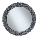 Contemporary Silver Wall Mirror Product Image