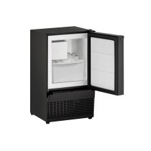 "Ada Series 14"" Crescent Ice Maker With Black Solid Finish and Field Reversible Door Swing (115 Volts / 60 Hz)"
