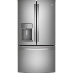 GE Profile™ Series ENERGY STAR® 22.1 Cu. Ft. Counter-Depth Fingerprint Resistant French-Door Refrigerator with Hands-Free AutoFill - FINGERPRINT RESISTANT STAINLESS