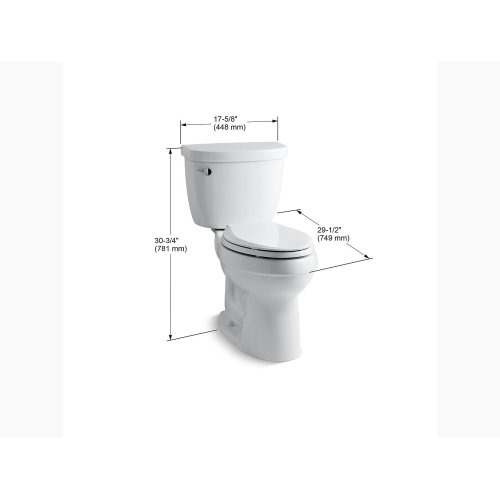 Sandbar Comfort Height Two-piece Elongated 1.28 Gpf Toilet With Aquapiston Flushing Technology and Left-hand Trip Lever, Seat Not Included