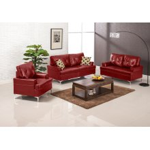 Walker Red Bonded/PU Chair