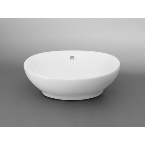Oval Ceramic Vessel Bathroom Sink in White