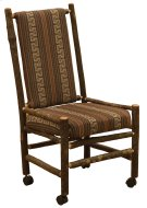 Hickory Executive Chair - Upholstered Back and Seat on Casters - Any Fabric Product Image
