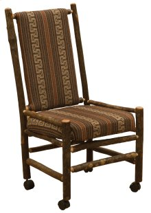 Hickory Executive Chair - Upholstered Back and Seat on Casters - Any Fabric