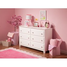 Atlantic 6 Drawer 54 inch Dresser in White