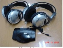 Two Wireless Infrared Headphones with IR Transmitter