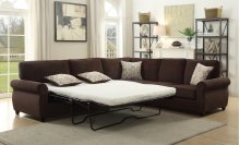 Cornell Chocolate Brown Sleeper Sectional