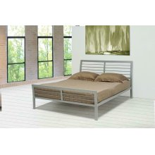 Cooper Contemporary Silver Queen Bed