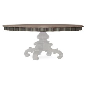 Dining Room Arabella 72in Round Pedestal Dining Table Top