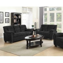 Clemintine Grey Two-piece Living Room Set