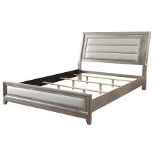 """Jayden 78"""" Bed In Silver"""