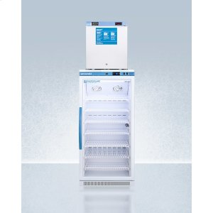 SummitStacked Combination of Arg8pv All-refrigerator and Fs24lmed2 Compact Manual Defrost All-freezer for Vaccine Storage