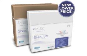 iComfort Luxury Sheet Set - Mocha Solid - Queen