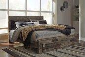 Derekson - Multi Gray 4 Piece Bed Set (King)