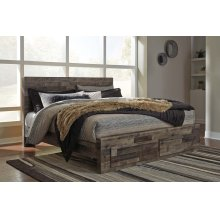 Derekson - Multi Gray 4 Piece Bed Set (King)