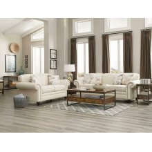 Norah Traditional White Two-piece Living Room Set