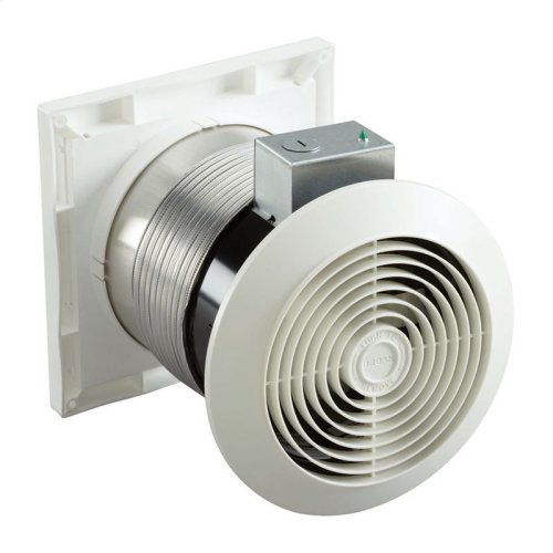 """6"""" 70 CFM Through Wall Exhaust Fan, White Grille"""