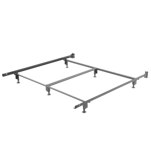 Inst-A-Matic Premium PC777G Bed Frame with Headboard Brackets and (6) 2-Piece Glide Legs, Powder Coat Finish, King