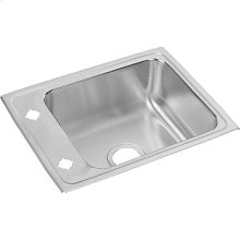 "Elkay Lustertone Classic Stainless Steel 22"" x 17"" x 5"", Single Bowl Drop-in Classroom ADA Sink"
